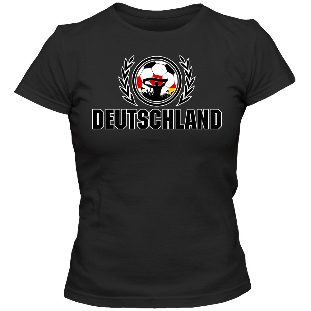 deutschland em 2016 2 t shirt fu ball damen fanshirt trikot nationalmannschaft. Black Bedroom Furniture Sets. Home Design Ideas